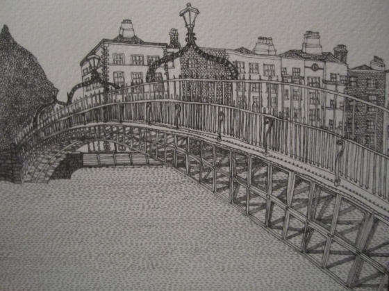 Ha'Penny Bridge, Dublin by Kate Bragan