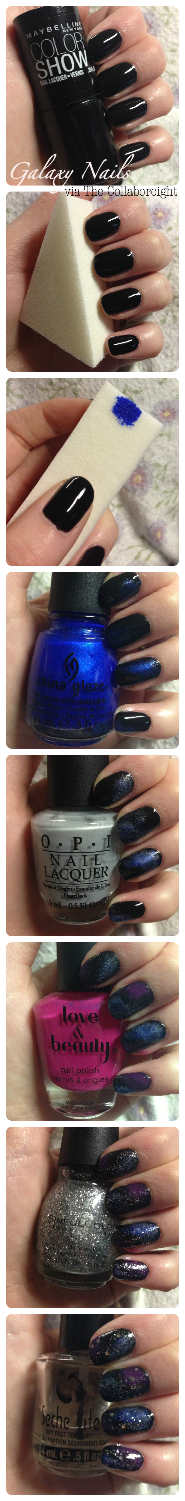 Manicure Monday: Galaxy Nails | The Collabor-eight