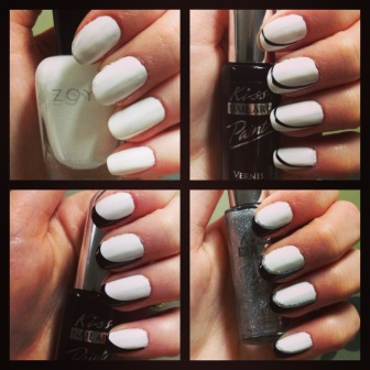 Manicure Monday: Haute Reverse French via The Collaboreight
