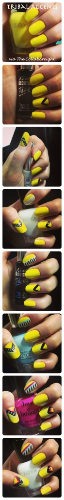 Manicure Monday: Tribal Accents via The Collaboreight