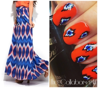 Manicure Monday: Bold Ikat via The Collabor-eight