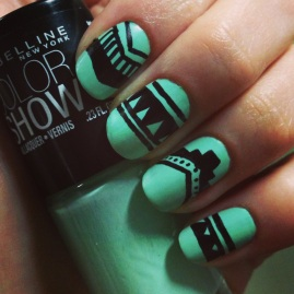 Manicure Monday - Matte Tribal via The Collabor-eight