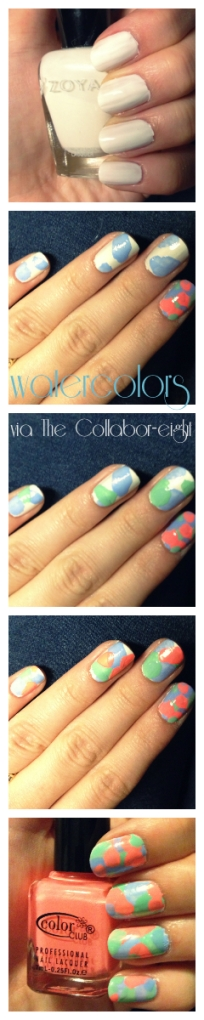 Manicure Monday: Watercolors via The Collabor-eight