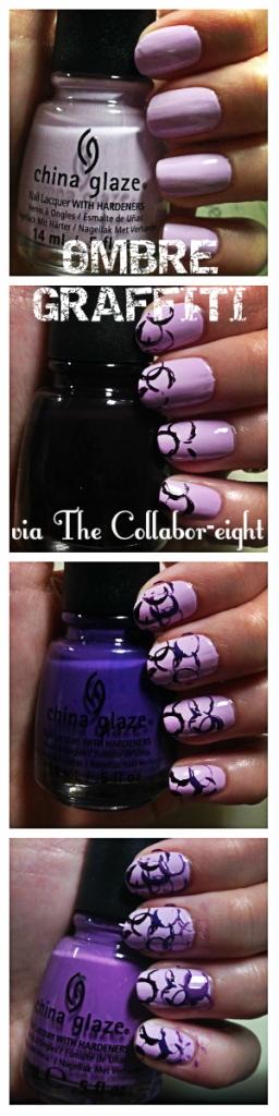 Manicure Monday: Ombre Graffiti via The Collabor-eight