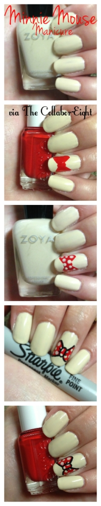 Manicure Monday: Minnie Mouse via The Collabor-Eight