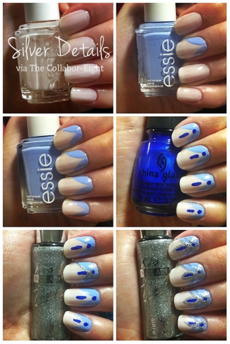 Manicure Monday: Silver Details via The Collabor-eight