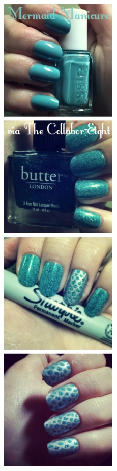 Manicure Monday: Little Mermaid Manicure via The Collabor-Eight