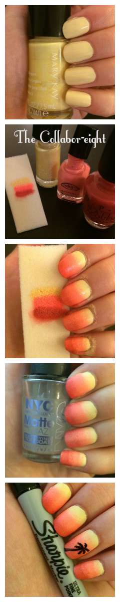 Manicure Monday: Summer Sunsets via The Collabor-eight